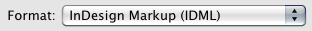 Indesign Markup (IDML)