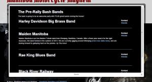 Manitoba Motorcycle Mayhem Bands