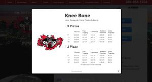 Mr. Bones Menu Item
