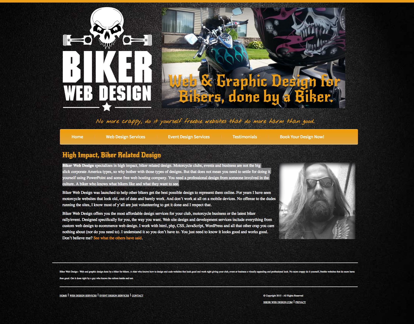 Biker web design creative compulsions screen shot 2016 05 18 at 21029 pm solutioingenieria Image collections
